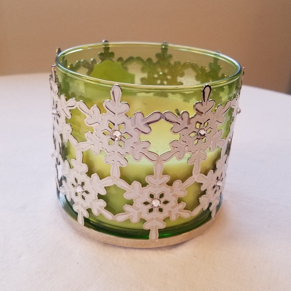 Bath & Body Works Snowflake Candle Holder